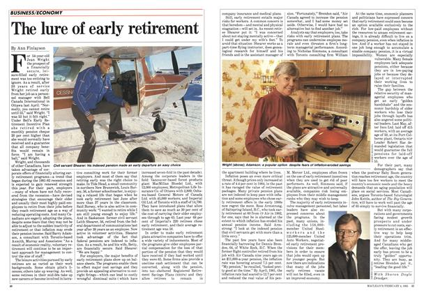 Article Preview: The lure of early retirement, February 1985 | Maclean's
