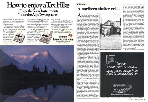 Article Preview: A northern shelter crisis, February 1985 | Maclean's
