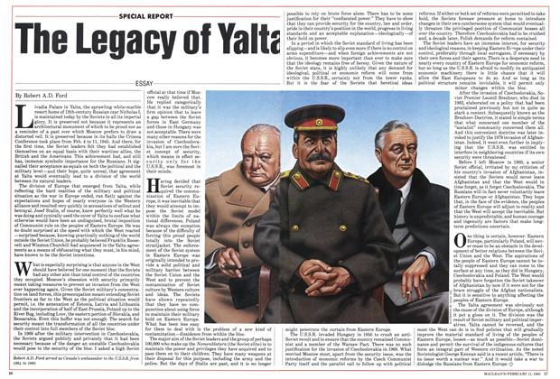 Article Preview: The Legacy of Yalta, FEBRUARY 11,1985 1985 | Maclean's