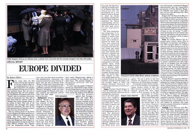 Article Preview: EUROPE DIVIDED, FEBRUARY 11,1985 1985 | Maclean's