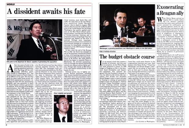 Article Preview: The budget obstacle course, FEBRUARY 11,1985 1985 | Maclean's