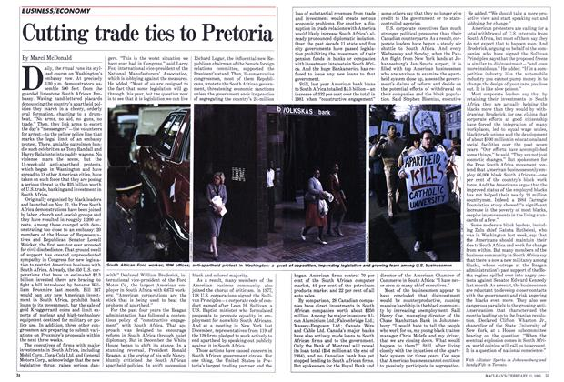 Article Preview: Cutting trade ties to Pretoria, FEBRUARY 11,1985 1985 | Maclean's