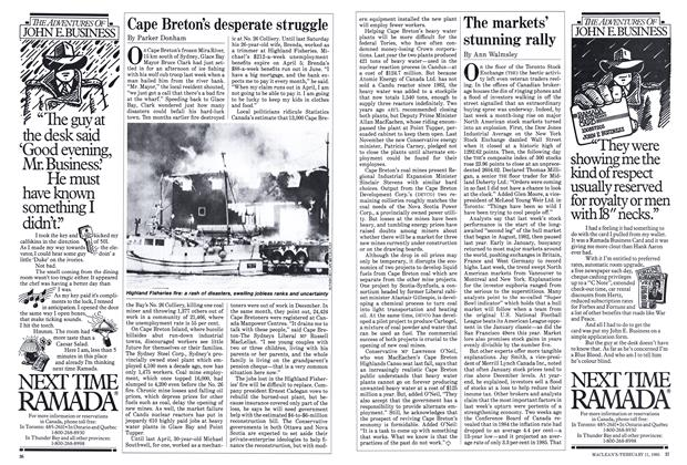 Article Preview: The markets' stunning rally, FEBRUARY 11,1985 1985 | Maclean's
