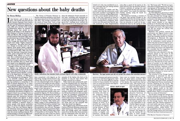 Article Preview: New questions about the baby deaths, FEBRUARY 11,1985 1985 | Maclean's