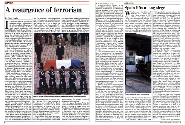 Article Preview: A resurgence of terrorism, February 1985 | Maclean's
