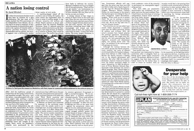 Article Preview: A nation losing control, February 1985 | Maclean's