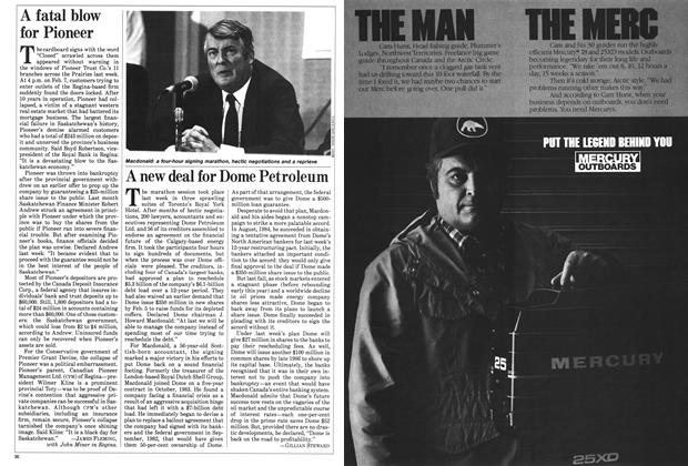 Article Preview: A new deal for Dome Petroleum, February 1985 | Maclean's