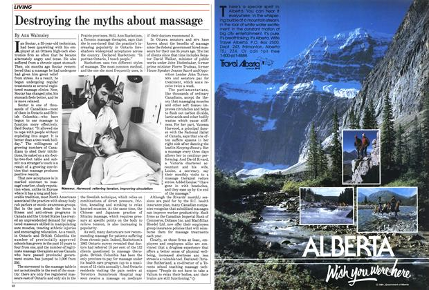 Article Preview: Destroying the myths about massage, February 1985 | Maclean's