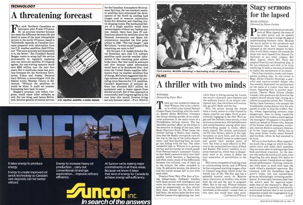 Article Preview: A thriller with two minds, February 1985 | Maclean's