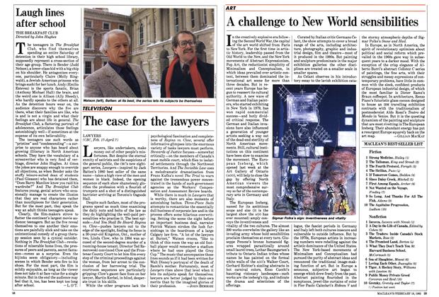 Article Preview: The case for the lawyers, February 1985 | Maclean's