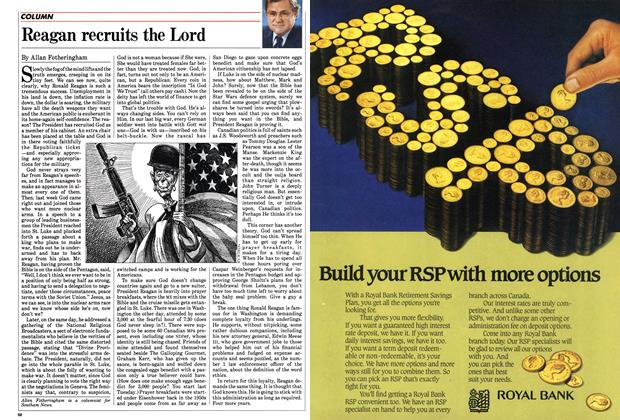 Article Preview: Reagan recruits the Lord, February 1985 | Maclean's