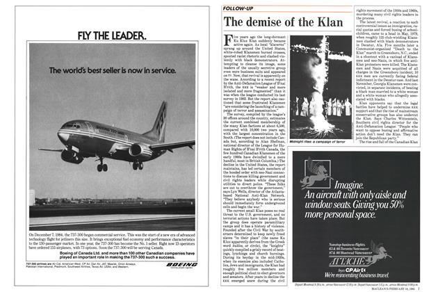 Article Preview: The demise of the Klan, February 1985   Maclean's