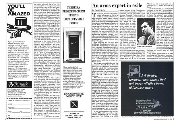 Article Preview: An arms expert in exile, February 1985 | Maclean's