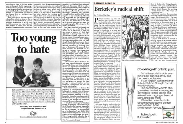 Article Preview: Berkeley's radical shift, February 1985 | Maclean's