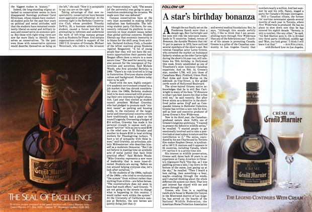 Article Preview: A star's birthday bonanza, February 1985 | Maclean's