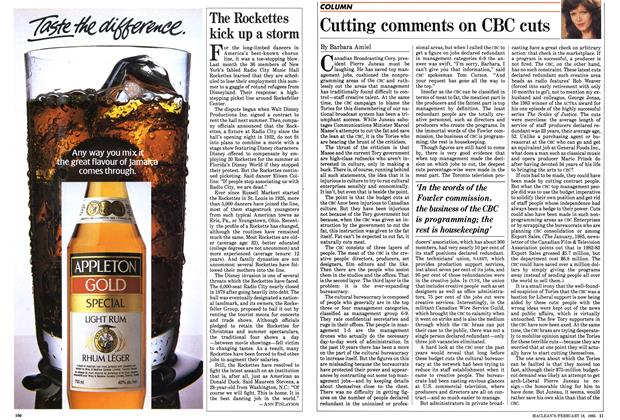 Article Preview: Cutting comments on CBC cuts, February 1985 | Maclean's