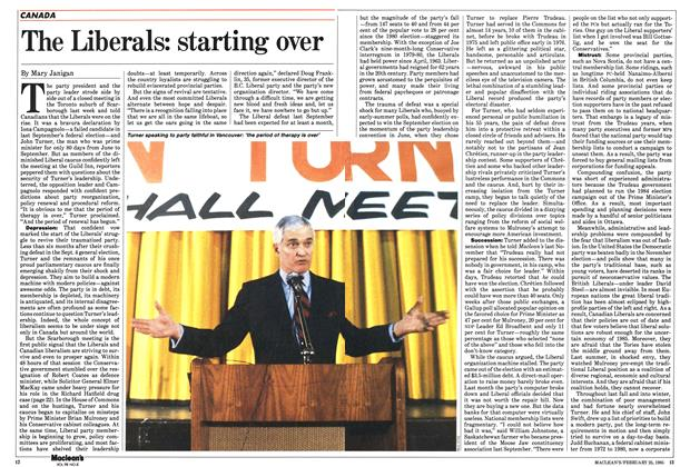 Article Preview: The Liberals: starting over, February 1985 | Maclean's