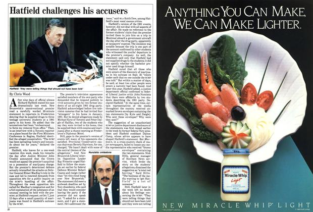 Article Preview: Hatfield challenges his accusers, February 1985 | Maclean's