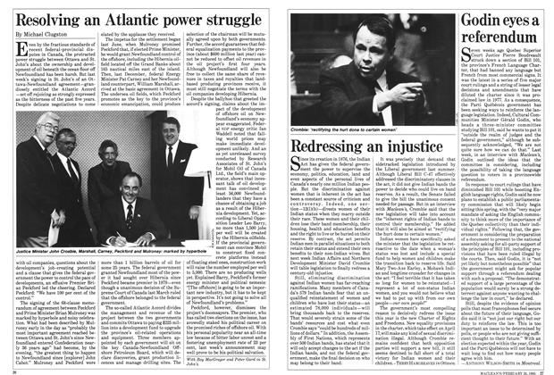 Article Preview: Godin eyes a referendum, February 1985 | Maclean's