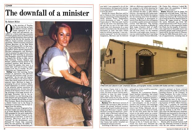 Article Preview: The downfall of a minister, February 1985 | Maclean's