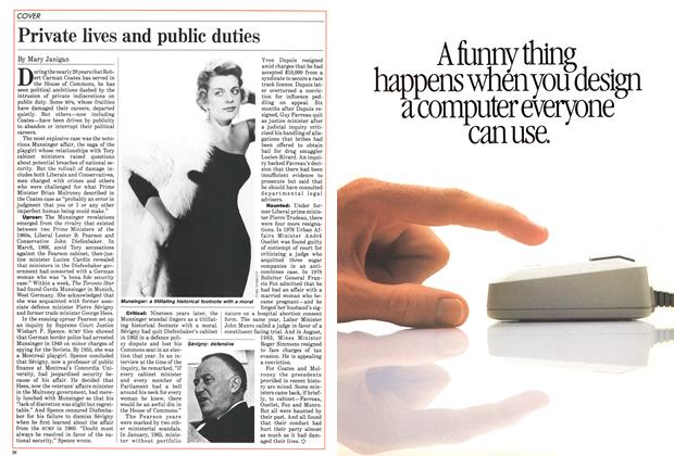 Article Preview: Private lives and public duties, February 1985 | Maclean's