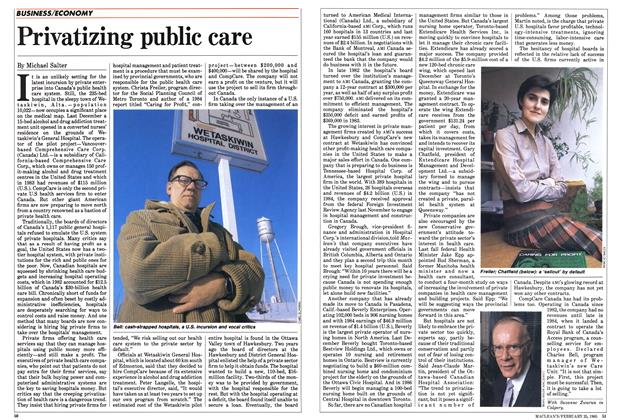 Article Preview: Privatizing public care, February 1985 | Maclean's