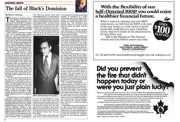 Article Preview: The fall of Black's Dominion, February 1985 | Maclean's