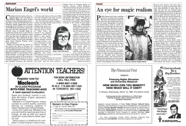 Article Preview: Marian Engel's world, February 1985 | Maclean's