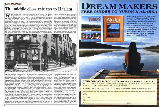 Article Preview: The middle class returns to Harlem, February 1985 | Maclean's