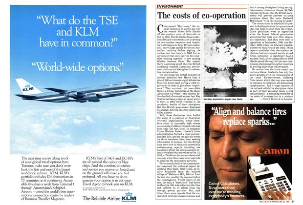 Article Preview: The costs of co-operation, February 1985 | Maclean's