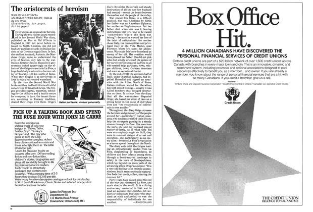 Article Preview: The aristocrats of heroism, February 1985 | Maclean's