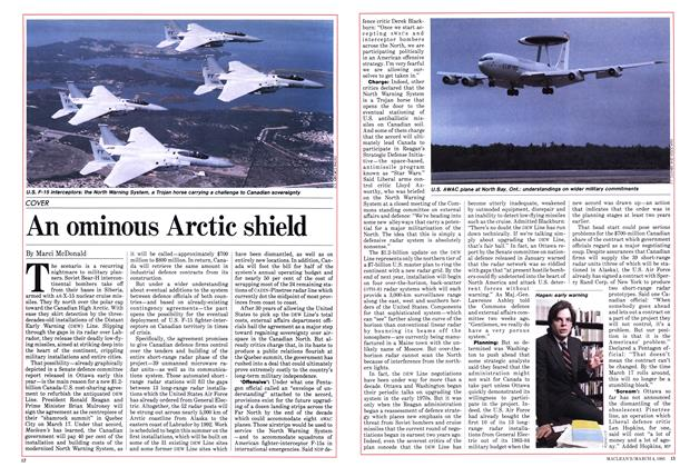 Article Preview: An ominous Arctic shield, March 1985 | Maclean's