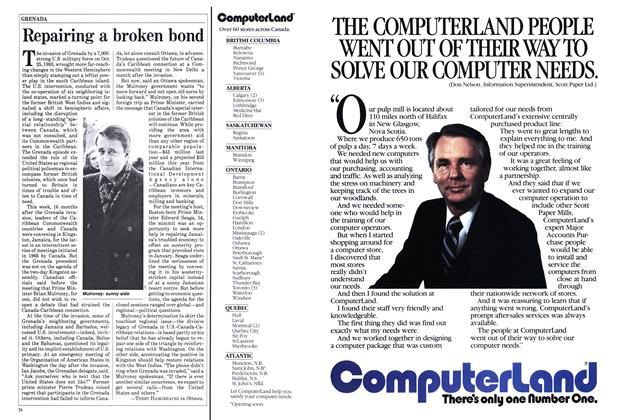Article Preview: Repairing a broken bond, March 1985 | Maclean's