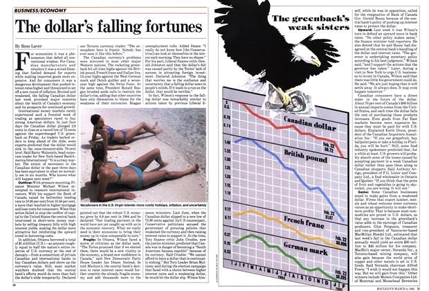 Article Preview: The dollar's falling fortunes, March 1985 | Maclean's