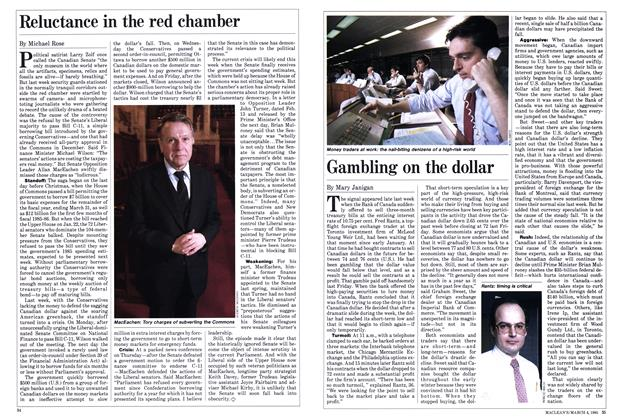 Article Preview: Gambling on the dollar, March 1985 | Maclean's