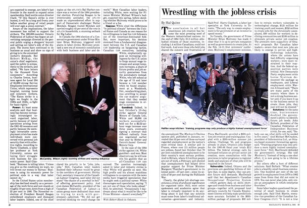 Article Preview: Wrestling with the jobless crisis, March 1985 | Maclean's