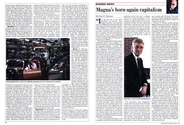 Article Preview: Magna's born-again capitalism, March 1985 | Maclean's