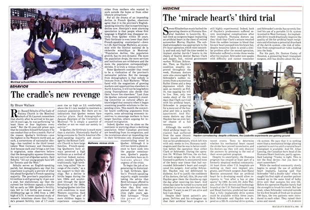 Article Preview: The cradle's new revenge, March 1985 | Maclean's