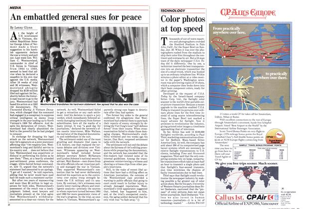 Article Preview: An embattled general sues for peace, March 1985 | Maclean's