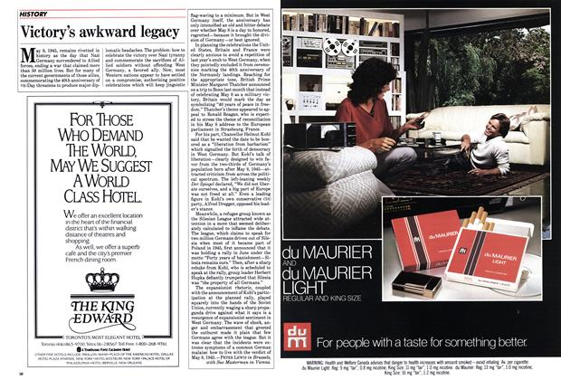 Article Preview: Victory's awkward legacy, March 1985 | Maclean's