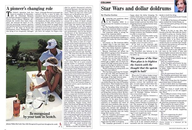 Article Preview: Star Wars and dollar doldrums, March 1985 | Maclean's