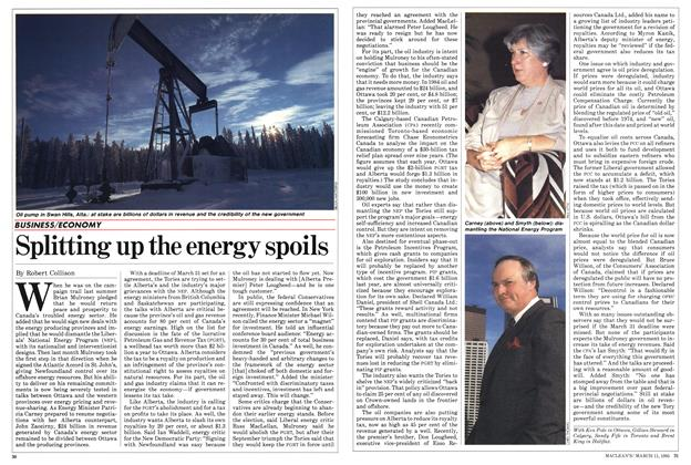Article Preview: Splitting up the energy spoils, March 1985 | Maclean's