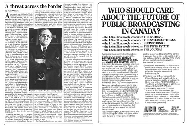 Article Preview: A threat across the border, March 1985 | Maclean's