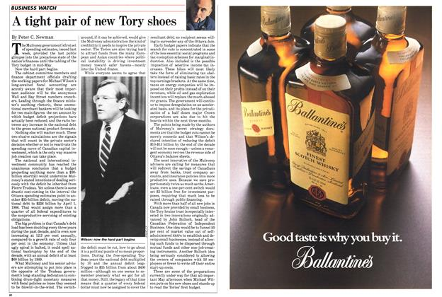 Article Preview: A tight pair of new Tory shoes, March 1985   Maclean's