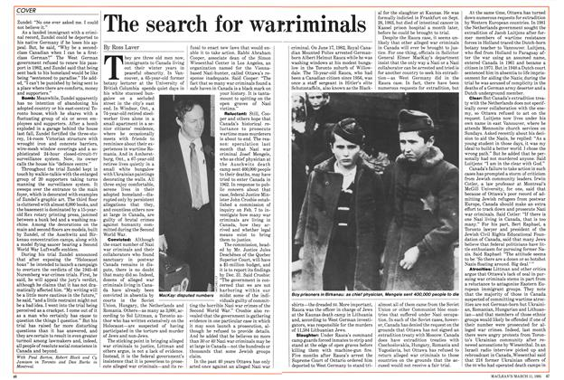 Article Preview: The search for war criminals, March 1985 | Maclean's