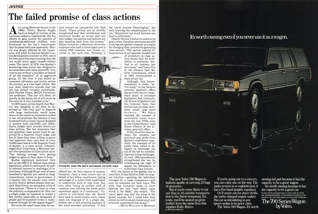 Article Preview: The failed promise of class actions, March 1985 | Maclean's