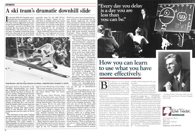 Article Preview: A ski team's dramatic downhill slide, March 1985 | Maclean's