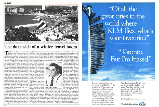 Article Preview: The dark side of a winter travel boom, March 1985 | Maclean's
