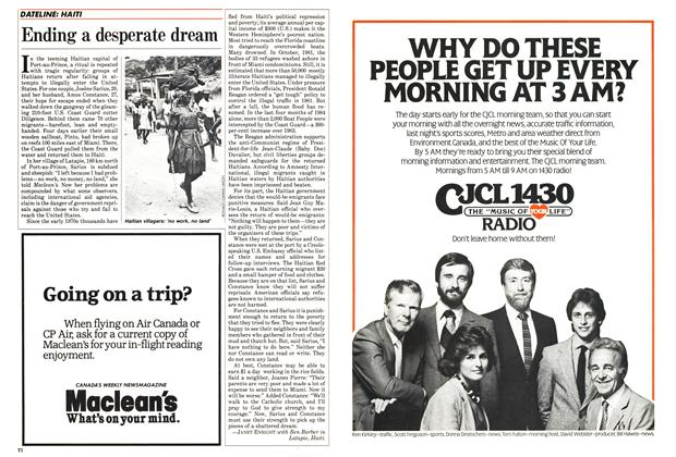 Article Preview: Ending a desperate dream, March 1985 | Maclean's