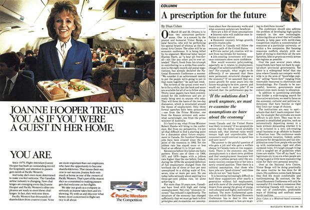 Article Preview: A prescription for the future, March 1985 | Maclean's